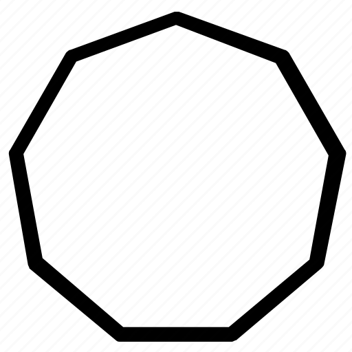 circle, eight, shapes, side icon