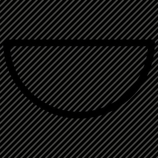 circle, half, shapes icon