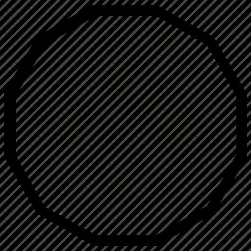 circle, nine, shapes, side icon