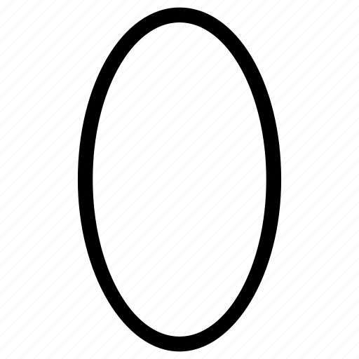 oval, shapes icon