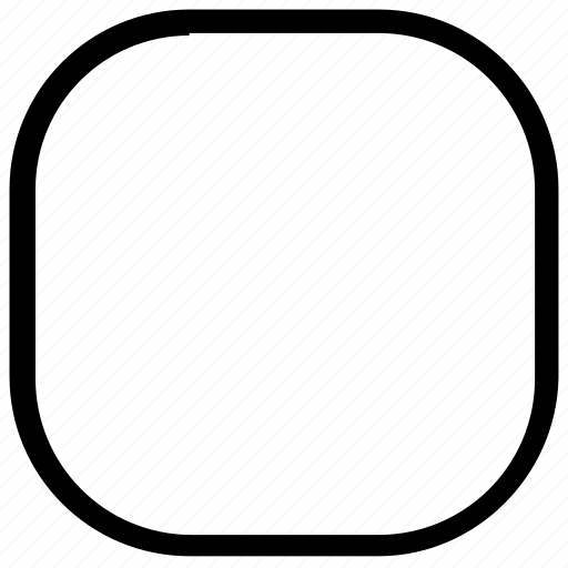 rounded, shapes, square icon