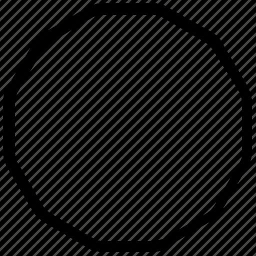 nine, shapes icon