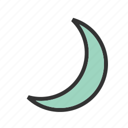 crescent, curve, design, geometry, shape icon