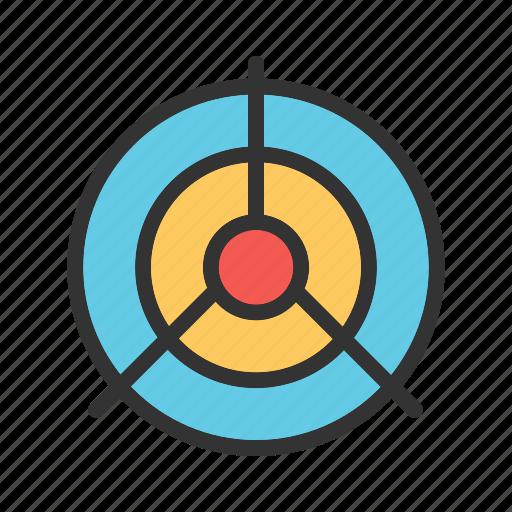 accuracy, aiming, circle, dart, dartboard, success, target icon