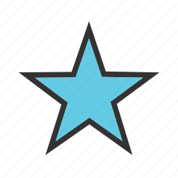 award, geometry, rating, sketch, star, stars icon