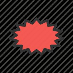 ball, blast, bomb, design, explosion, fire, smoke icon