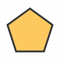 creative, element, geometric, paper, pentagon, style, technology icon