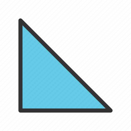 angle, design, geometric, geometry, pattern, right, triangle icon