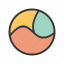 chart, circle, cycle, diagram, parts, presentation, three icon