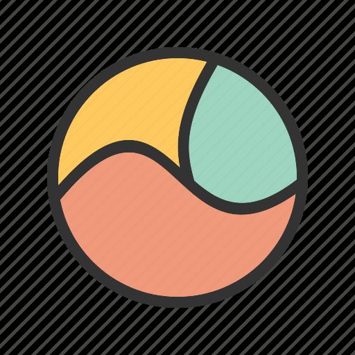 chart, circle, cycle, diagram, parts, presentation, three icon