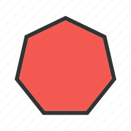 cylinder, drawing, geometry, hexagon, mathematics, octagon, pyramid icon