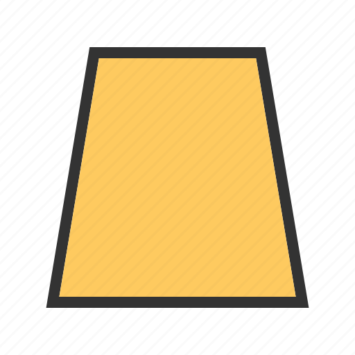 geometric, polygon, shape, shapes, trapezoid, triangle icon