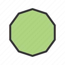 art, decagon, design, geometric, graphic, pattern, shape icon