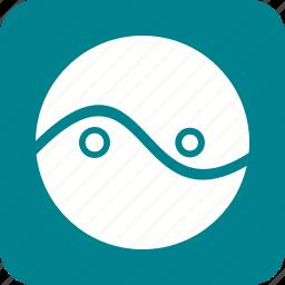 business, chart, circle, diagram, presentation, three, two icon