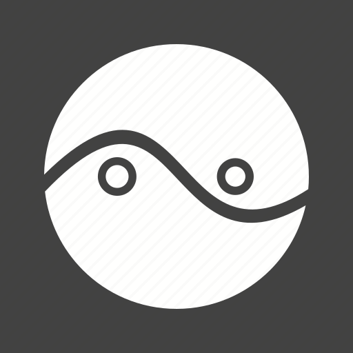 business, chart, circles, cycle, diagram, parts, two icon