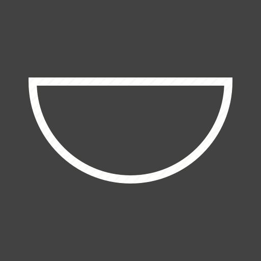 angle, circle, math, mathematical, protractor, semi icon