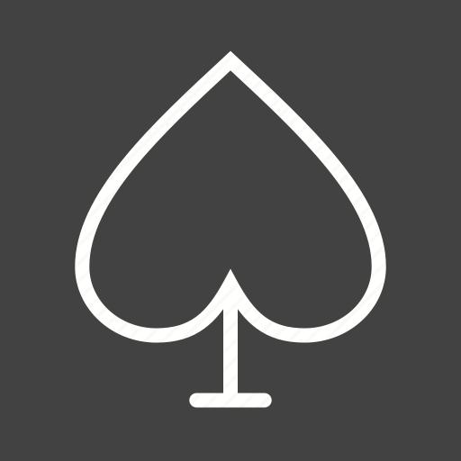 card, fun, game, geometric, playing, spade icon
