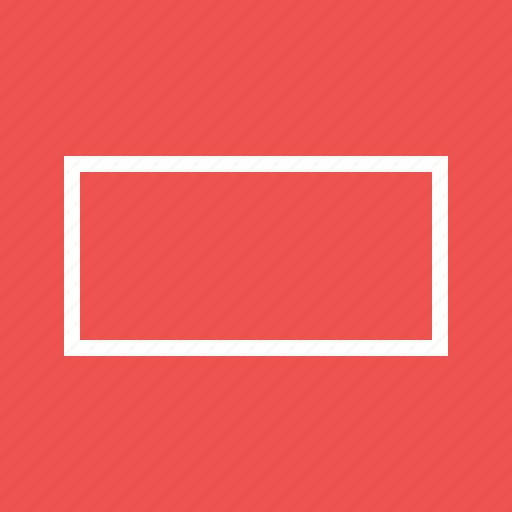 box, design, drawn, element, frame, rectangle, set icon