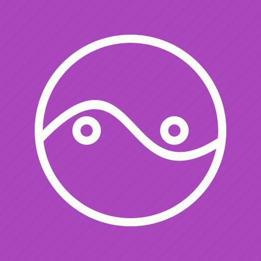 business, chart, circles, circular, diagram, parts, two icon