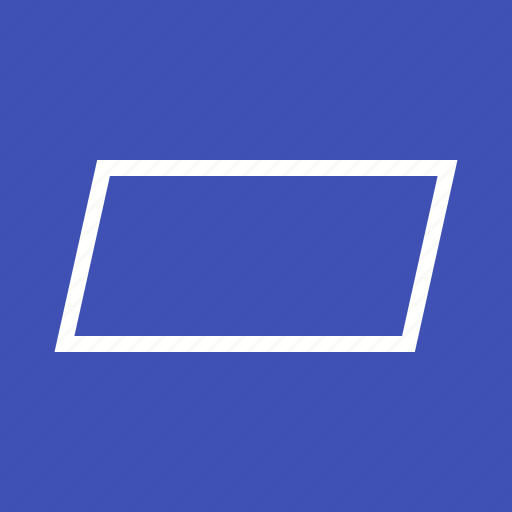 abstract, design, education, learning, parallelogram, school, square icon