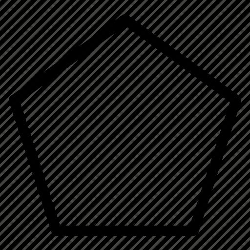 pentagon, pentagon icon, pentagon shape, pentagon sign icon