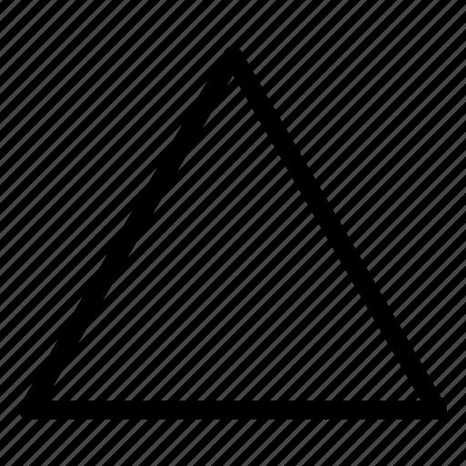 triangle, triangle icon, triangle shape, triangle sign icon