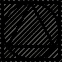 basic, grid, line, shape icon