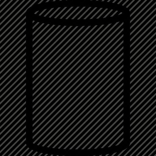 cylinder, grid, shape, tank icon