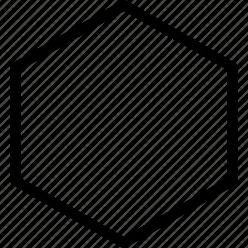 grid, hexagon, line, shape icon