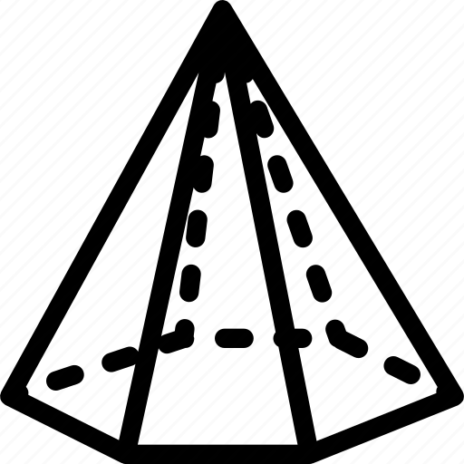 cone, hexagonal, icecream, lolly, shape icon