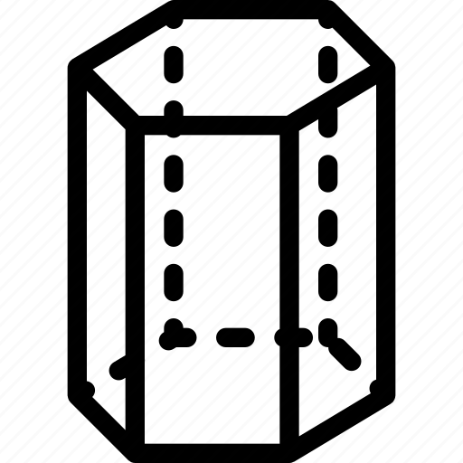 cylinder, hexagonal, shape, tank icon