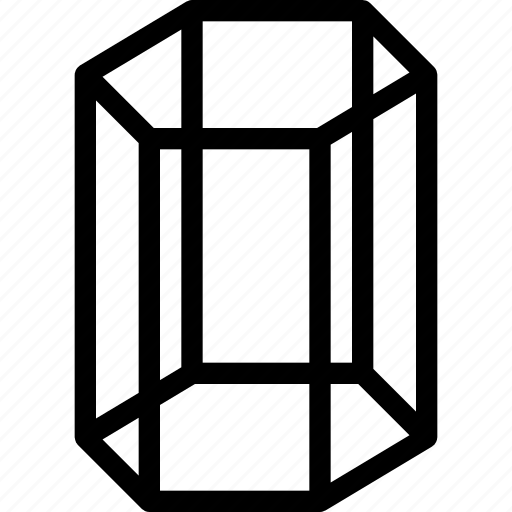 cylinder, grid, hexagonal, shape, tank icon