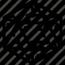 ikosaeder, design, grid, shape