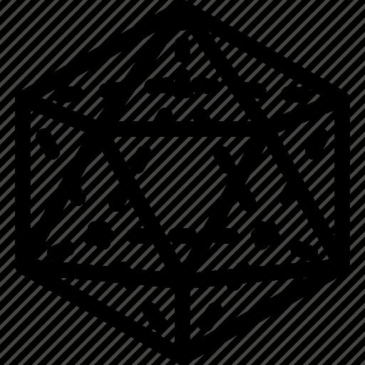 design, grid, ikosaeder, shape icon