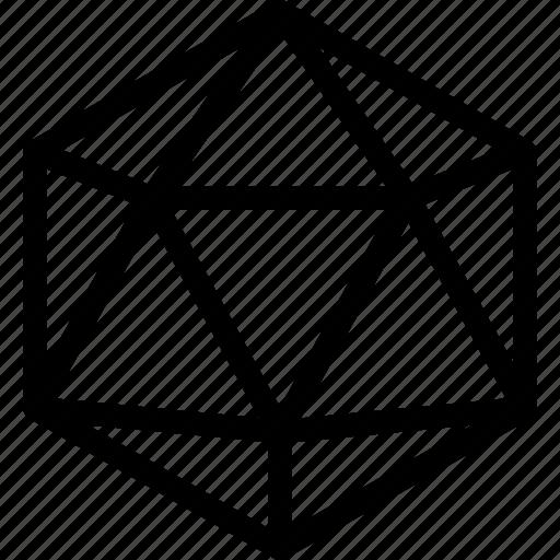 gris, ikosaeder, line, shape icon