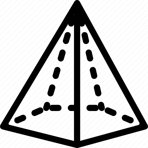 cone, grid, pentagonal, shape icon