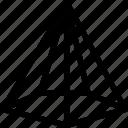 cone, pentagonal, line, shape