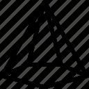 cone, pentagonal, icecream, shape