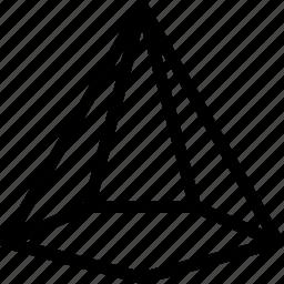 cone, icecream, pentagonal, shape icon