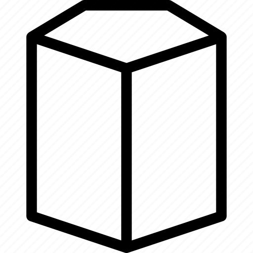 cylinder, grid, pentagonal, shape icon