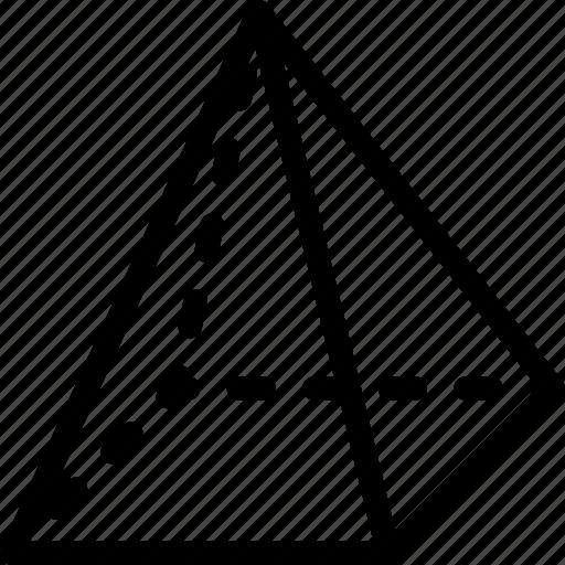 egypt, geometry, grid, piramid, shape icon