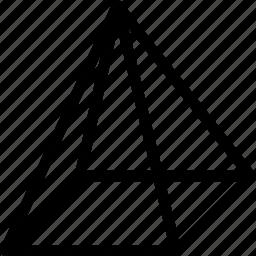 geometry, grid, piramid, shape icon