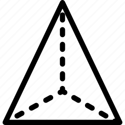 grid, line, shape, tetraeder icon