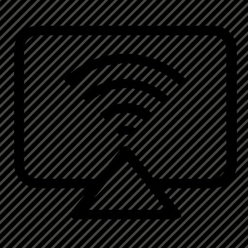 monitor, network, signal, wireless icon