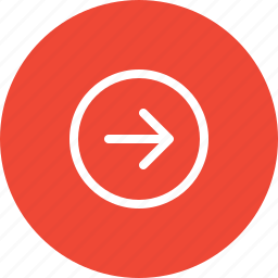 arrow, circle, direction, move, navigation, next, right icon