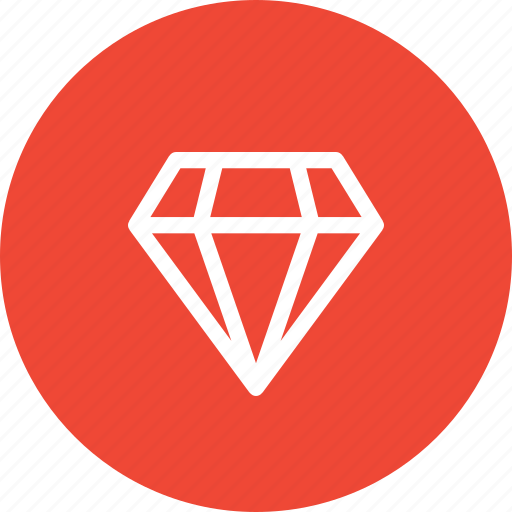 brilliant, diamond, gem, jewel, jewelry, sketch, stone icon