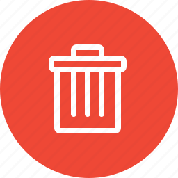 del, delete, empty, recyclebin, remove, trash, trash can icon