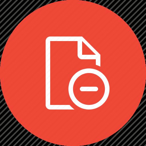 del, delete, delete document, file, format, page, paper icon