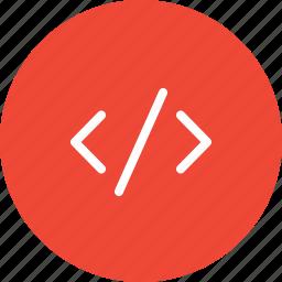 code, coding, command, develop, html, html code, programming icon