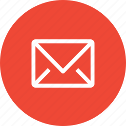 contact, email, envelope, letter, mail, message, send mail icon